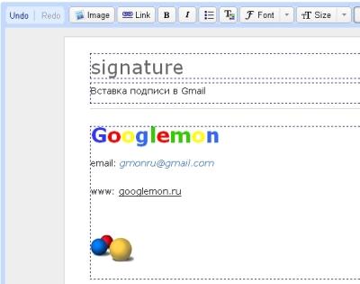 Как сделать подпись для gmail 271